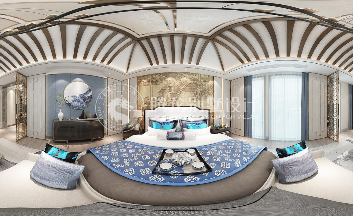 上海院子新中式别墅装修效果图