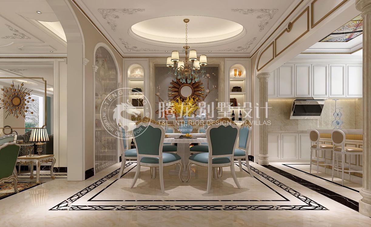 别墅豪宅装修餐厅吊顶设计效果图